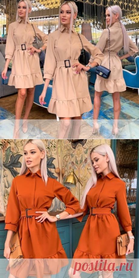 ❋Симпатичное платье с воланами купить недорого