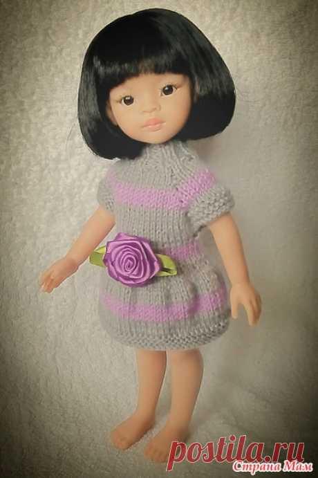 El vestido rayado con rozochkoy en Paolku)) - el Ropero para la muñeca - el País de las Mamás