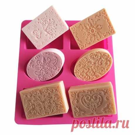 Силиконовая форма для мыла ручной работы, форма с смешанными узорами