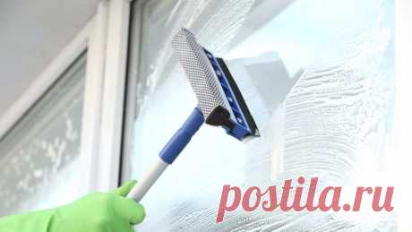 Как быстро помыть глухую половину пластиковых окон