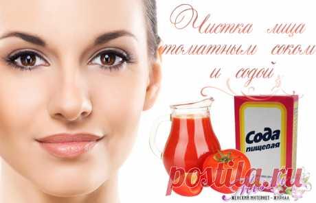 Домашняя маска для лица моментального действия с содой и помидорами