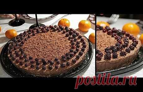 Шоколадно – банановый торт без выпечки.