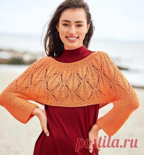 Оранжевый джемпер-болеро - схема вязания спицами. Вяжем Джемперы на Verena.ru
