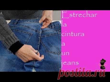 Estrechar la cintura un pantalón vaquero