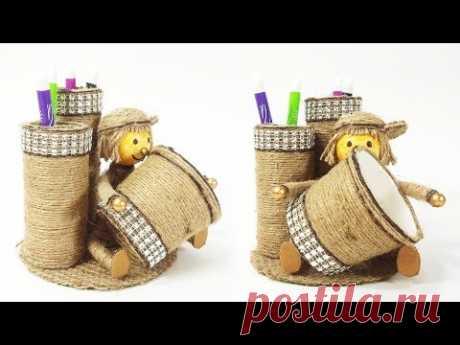 Doll Showpiece Pen Organizer   DIY Pen Stand   Crafts Junction
