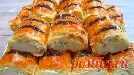 Слоёные Пирожки с Картофелем и Плавленым Сыром! Просто ОБЪЕДЕНИЕ!