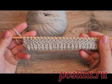 Наборный край спицами - Удлинённая нижняя кромка 🤗 How to cast on stitches