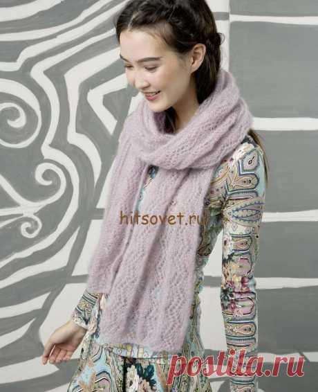 Розовый шарфик для начинающих - Хитсовет