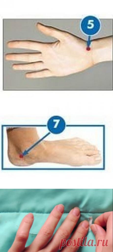 Процедура точечного самомассажа при низком артериальном давлении
