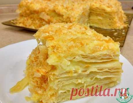 """Слоеный торт """"Наполеон"""" с заварным кремом – кулинарный рецепт"""