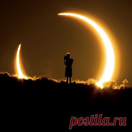 Фотограф Коллин Пински сделала один из самых впечатляющих снимков кольцевого солнечного затмения в мае 2012 года.