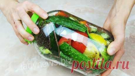 Как сделать малосольные овощи в банке - кабачки, огурцы, помидоры
