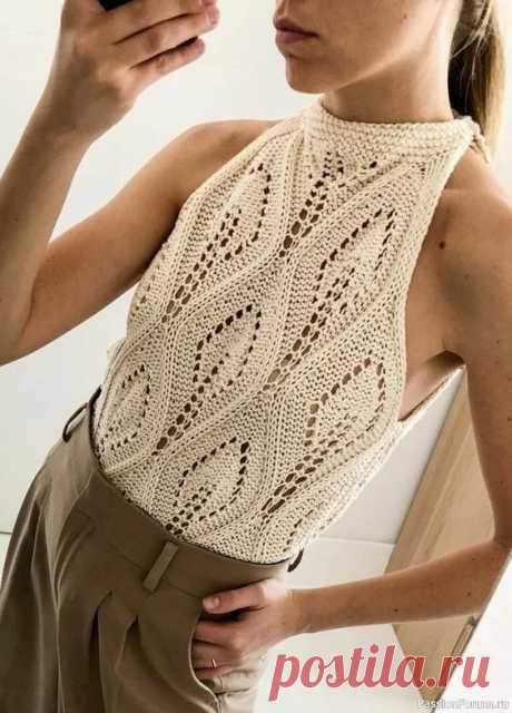 ЖАКЕТ СПИЦАМИ С УЗОРОМ ЛИСТЬЯ | Вязание для женщин спицами. Схемы вязания спицами
