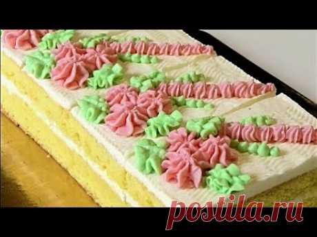 МАСЛЯНЫЙ КРЕМ всегда удачный. БИСКВИТНЫЕ ПИРОЖНЫЕ/Sponge cakes.