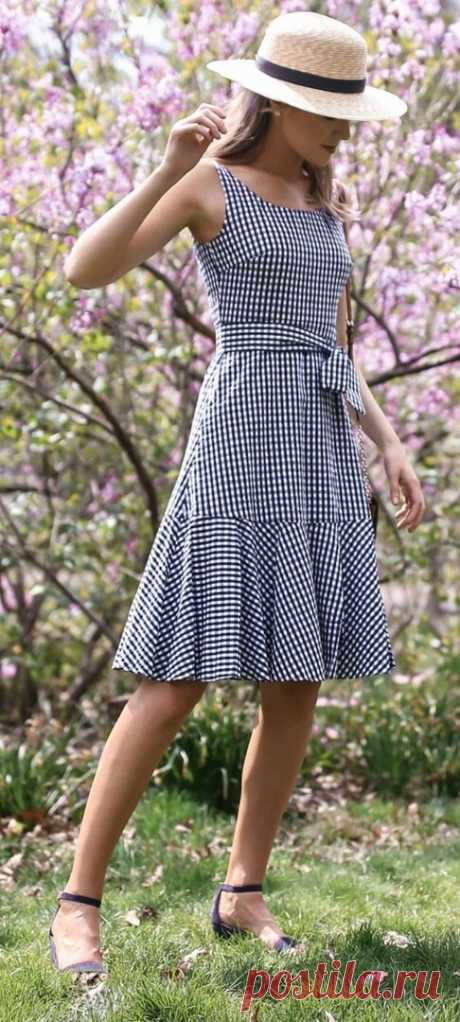 Платья в клеточку. Летние фасоны для вдохновения  #прошитье #идеи