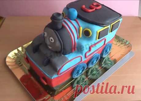 Торт Паровозик Томас рецепт с фото пошагово и видео - 1000.menu