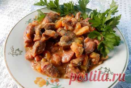 Куриные желудки с бобами и овощами — СОВЕТНИК
