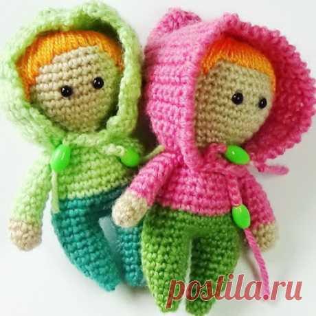 1000 схем амигуруми на русском: Пупс куколка крючком