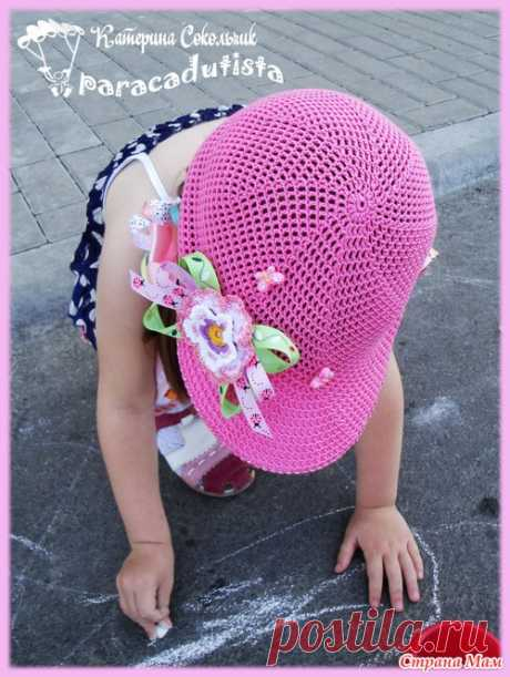 Pink cap or how to knit without seam. - Country of Mothers