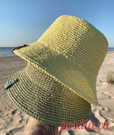 Какие стильные панамы от мастериц из Инстаграма - плюс описание шляпы-панамы по рядам | Вязалушка | Пульс Mail.ru Обзор работ мастериц и описание круглой шляпы-панамы по рядам.