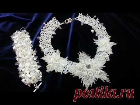 """Колье """"Свадебные цветы"""". ЧАСТЬ 2/Necklace """"Wedding Flowers"""". PART 2"""
