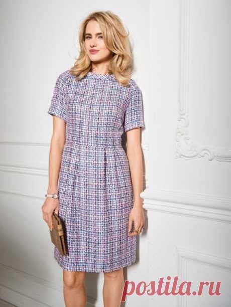 2c495f230c0 Твидовое платье с рукавами реглан - выкройка № 107 A из журнала 9 2018 Burda