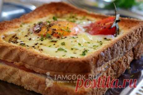 Яйцо в хлебе в духовке.