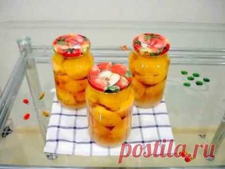 Персики в Сиропе на Зиму☆ Пошаговый Рецепт☆ Peaches in syrup for the winter, step by step recipe