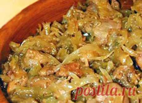 The most tasty bigos from fresh cabbage with meat. Just seeing you will choke with saliva! And what it is fragrant!!!