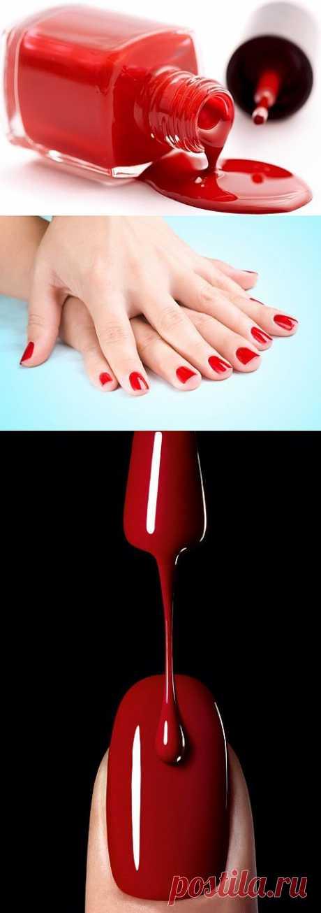 Siente todo el dolor ser la mujer, cuando ante ti diez matices del barniz rojo, y todo no tales, como necesitas...
