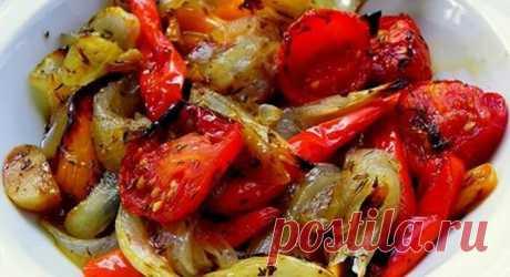 Фантастически вкусные овощи в маринаде, запечённые в духовке