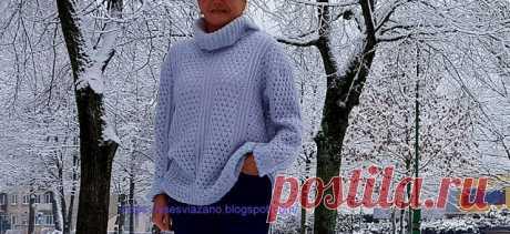 ВСЕ СВЯЗАНО. ROSOMAHA.: Красивый пуловер-оверсайз из мохера. Себе и маме!