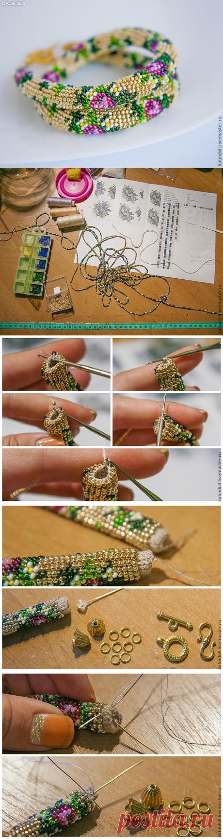 Вяжем бисерный жгут крючком — Сделай сам, идеи для творчества - DIY Ideas