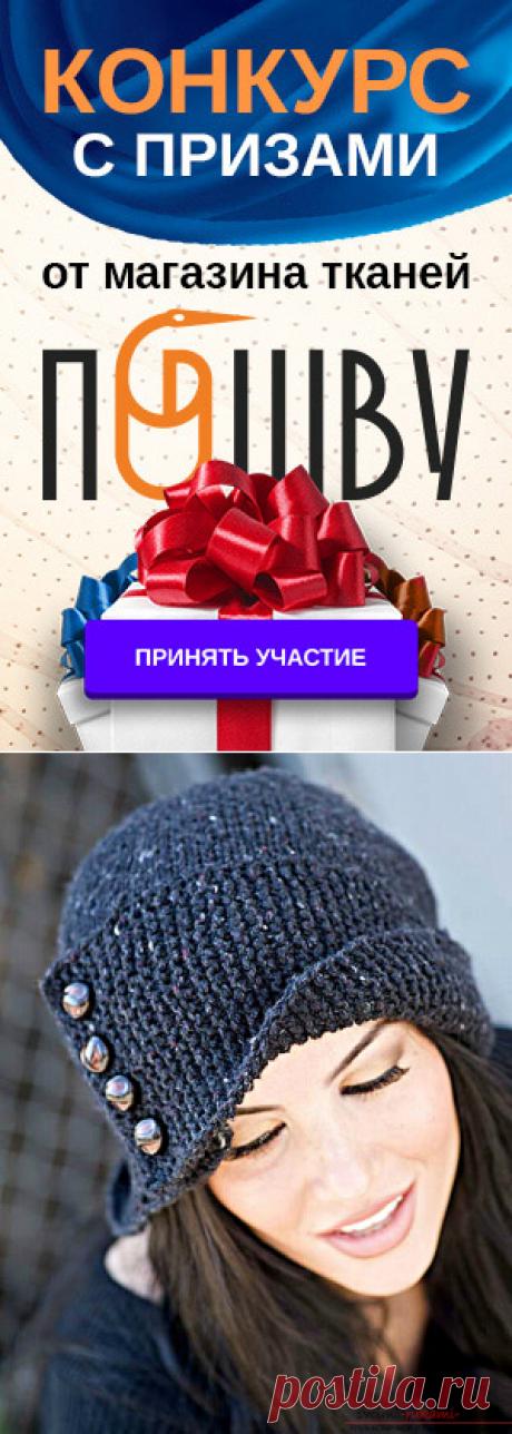 Вязание шапки с отворотом спицами. Подробная схема с описанием и фото для начинающих