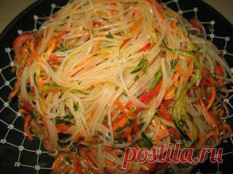 Как приготовить фунчоза по-корейски - рецепт, ингредиенты и фотографии