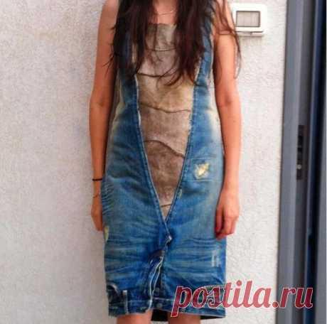 """Еще одно """"джинсо-платье"""" / Переделка джинсов / Модный сайт о стильной переделке одежды и интерьера"""