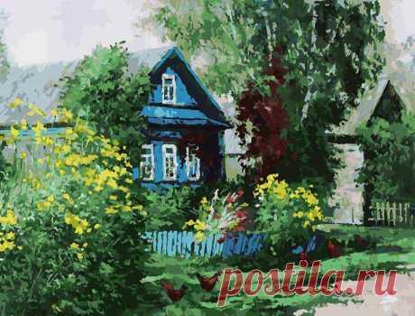 Домик в деревне 091-AS. Наборы для раскрашивания > Белоснежка > Пейзажи.