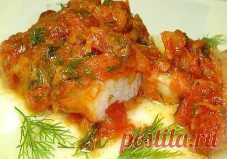 Как приготовить рыба тушеная с помидорами - ингредиенты для рецепта  - рецепт, ингридиенты и фотографии