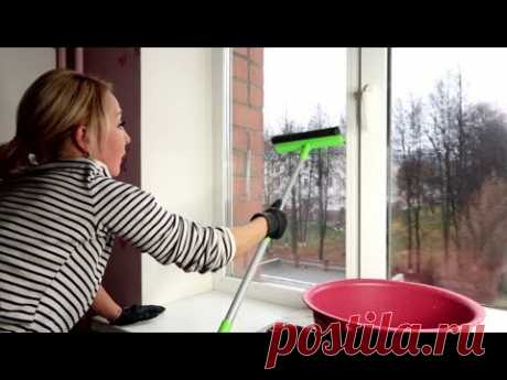 Необычный способ из старого журнала отмыть окна марганцовкой
