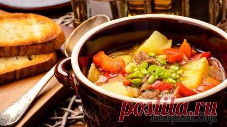 Бограч - венгерский гуляш   Вкусный густой, наваристый суп