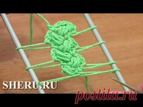 Hairpin Lace Patterns Урок 10 Вязание крючком на вилке
