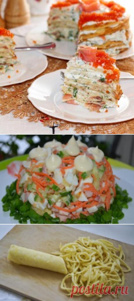 Как приготовить блинный салат: рецепты на праздник и на каждый день