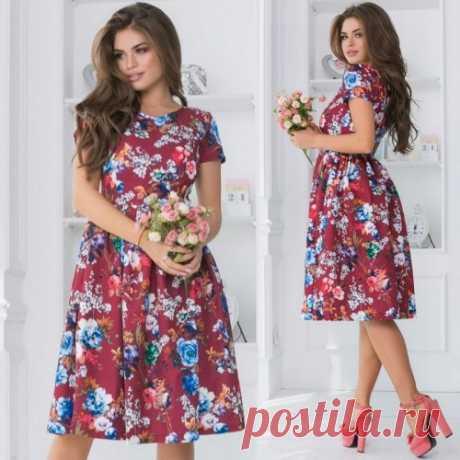 Красивое летнее платье с цветами | шикарные платья смотри на сайте. Скидки. Доставка.