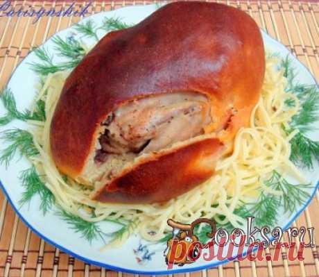 Запеченое яйцо птеродактиля Порционное праздничное блюдо из птицы украсит любой стол. Цыплята-корнишоны — 4 шт; Соль, перец - по вкусу ; Шампиньоны (для начинки) — 300 г; Лук (для начинки) — 1 шт; Сухари панировочные (для начинки) — 2 ст.л.; Дрожжи (для теста) — 1 ч.л.; Сахар (для теста) — 2 ч.л.; Соль (для теста) — 1 ч.л.; Молоко сухое (для теста) — 50 г; Мука пшеничная (для теста) — 400 г; Мука нутовая (для теста) — 150 г; Вода теплая (для теста) — 250 мл; Масло растительное (для теста) — 2…