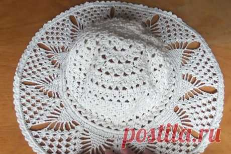 Подробный урок вязания летней шляпки с полями от Светланы Берсановой - Калейдоскоп событий