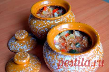The dietary recipe from chicken fillet and vegetables in pots - Simple recipes of Овкусе.ру