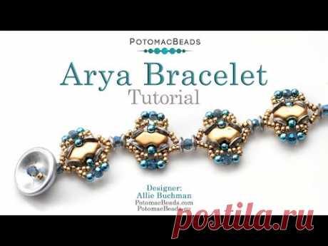 Arya Bracelet - DIY Jewelry Making Tutorial by PotomacBeads