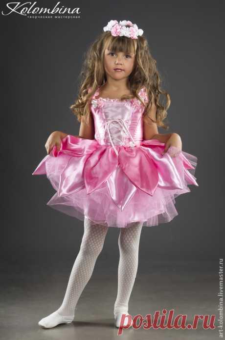 Купить Костюм Дюймовочка - розовый, дюймовочка, костюм дюймовочка, атлас, фатин