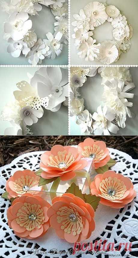 2 часть. Самодельные цветы для интерьера..