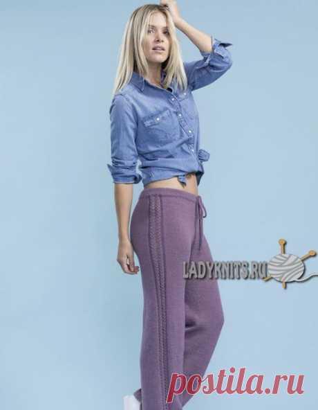 Как связать женские спортивные брюки спицами. Описание для размеров от XS до XXL
